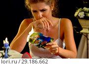 Купить «Wedding memories. Broken heart woman. Family break up.», фото № 29186662, снято 16 октября 2018 г. (c) Gennadiy Poznyakov / Фотобанк Лори