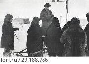 Отто Юльевич Шмидт во время полярной экспедиции. Редакционное фото, фотограф Retro / Фотобанк Лори
