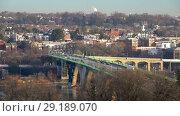 Купить «View on Key bridge in Washington DC at winter morning», видеоролик № 29189070, снято 8 октября 2018 г. (c) Sergey Borisov / Фотобанк Лори