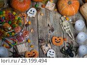 Купить «Background for Halloween», фото № 29199494, снято 14 сентября 2018 г. (c) Типляшина Евгения / Фотобанк Лори