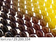 Купить «Round seat folding chairs at outside theatre», фото № 29200334, снято 27 июля 2017 г. (c) Сергей Новиков / Фотобанк Лори