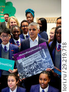 Купить «Ahead of the centenary of the first women in the UK securing the right to vote, the Mayor of London, Sadiq Khan, unveils a campaign to celebrate the role...», фото № 29219718, снято 18 декабря 2017 г. (c) age Fotostock / Фотобанк Лори