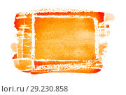 Купить «Orange hand drawn rectangle», иллюстрация № 29230858 (c) Роман Сигаев / Фотобанк Лори