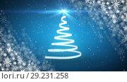 Купить «Christmas tree and snowflakes», видеоролик № 29231258, снято 31 мая 2020 г. (c) Wavebreak Media / Фотобанк Лори