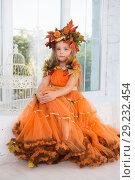 Купить «Cute little girl», фото № 29232454, снято 26 сентября 2015 г. (c) Сергей Сухоруков / Фотобанк Лори