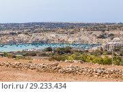 Купить «Марсашлокк, Мальта. Живописный вид города и залива», фото № 29233434, снято 18 сентября 2016 г. (c) Rokhin Valery / Фотобанк Лори