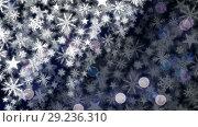 Купить «Snowflakes and lights», видеоролик № 29236310, снято 2 октября 2018 г. (c) Wavebreak Media / Фотобанк Лори