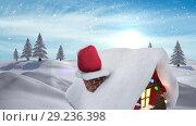 Купить «Santa presents in chimney in Winter snow landscape», видеоролик № 29236398, снято 16 октября 2018 г. (c) Wavebreak Media / Фотобанк Лори