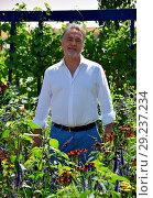 Купить «RHS Hampton Court Flower Show 2018 - Day 1 Featuring: Raymond Blanc Where: London, United Kingdom When: 02 Jul 2018 Credit: Paul Taylor/WENN.com», фото № 29237234, снято 2 июля 2018 г. (c) age Fotostock / Фотобанк Лори