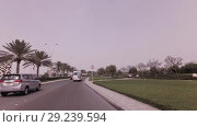 Car trip on Yas Island in Abu Dhabi stock footage video (2018 год). Редакционное видео, видеограф Юлия Машкова / Фотобанк Лори