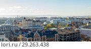 Купить «Панорама Казани», фото № 29263438, снято 9 октября 2018 г. (c) Владимир Макеев / Фотобанк Лори