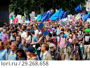Купить «Tens of thousands of people take part in a march on the second anniversary of the 2016 referendum to Parliament, demanding a People's Vote on the final...», фото № 29268658, снято 23 июня 2018 г. (c) age Fotostock / Фотобанк Лори