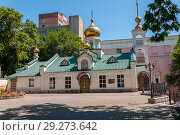 Купить «Russia, Vladivostok, July 2018: Church of the Dormition of the Mother of God», фото № 29273642, снято 30 июля 2018 г. (c) Катерина Белякина / Фотобанк Лори