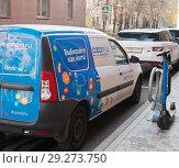 Купить «Брендированный автомобиль. Ozon.ru. Москва», фото № 29273750, снято 20 октября 2018 г. (c) Екатерина Овсянникова / Фотобанк Лори