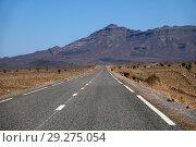 Купить «Empty road in Morocco mountains», фото № 29275054, снято 14 февраля 2018 г. (c) Михаил Коханчиков / Фотобанк Лори