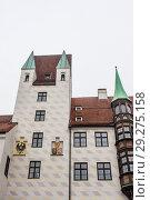 Купить «Old Court in Munich, Germany. The Court is the former residence of Louis IV, Holy Roman Emperor.», фото № 29275158, снято 27 января 2018 г. (c) Николай Коржов / Фотобанк Лори