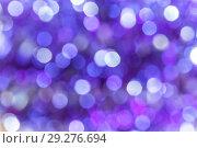 Abstract festive background with bokeh purple violet and blue colors. Стоковое фото, фотограф Светлана Евграфова / Фотобанк Лори