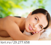 Купить «beautiful woman having hot stone therapy at spa», фото № 29277658, снято 25 июля 2013 г. (c) Syda Productions / Фотобанк Лори