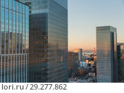 Купить «skyscrapers or office buildings in tokyo city», фото № 29277862, снято 7 февраля 2018 г. (c) Syda Productions / Фотобанк Лори