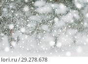 Купить «snowing or snowfall», фото № 29278678, снято 11 ноября 2016 г. (c) Syda Productions / Фотобанк Лори