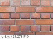 Купить «close up of brick wall texture», фото № 29279910, снято 10 февраля 2018 г. (c) Syda Productions / Фотобанк Лори