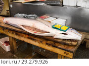 Купить «gutted fish or seafood at japanese street market», фото № 29279926, снято 10 февраля 2018 г. (c) Syda Productions / Фотобанк Лори