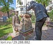 Купить «Памятник трубочисту и каменщику. Рига. Латвия», фото № 29288882, снято 22 августа 2018 г. (c) Сергей Афанасьев / Фотобанк Лори