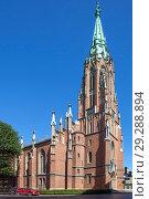 Старая церковь Гертруды. Рига. Латвия (2018 год). Стоковое фото, фотограф Сергей Афанасьев / Фотобанк Лори