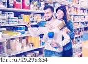 Купить «Couple choosing house decoration materials», фото № 29295834, снято 9 марта 2017 г. (c) Яков Филимонов / Фотобанк Лори