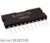 Купить «Integrated circuit digital computer parts. Logic electronic micro chip ai.», иллюстрация № 29297510 (c) Gennadiy Poznyakov / Фотобанк Лори
