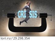 Купить «Business concept of crisis and recession», фото № 29298354, снято 18 марта 2019 г. (c) Elnur / Фотобанк Лори