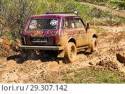 Купить «Lada Niva», фото № 29307142, снято 8 мая 2017 г. (c) Art Konovalov / Фотобанк Лори