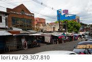 Municipal market Mercado 4 in Asuncion, Paraguay (2017 год). Редакционное фото, фотограф Яков Филимонов / Фотобанк Лори