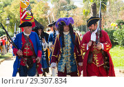 Купить «Costumed procession on the Day of Catalonia in Park de la Ciutadella, Spain», фото № 29307834, снято 11 сентября 2018 г. (c) Яков Филимонов / Фотобанк Лори