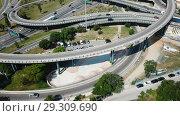 Купить «Image of car interchange of Barcelona in the Spain.», видеоролик № 29309690, снято 12 июня 2018 г. (c) Яков Филимонов / Фотобанк Лори