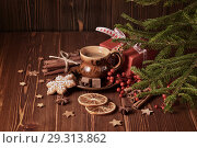 Купить «Christmas and New Year composition.», фото № 29313862, снято 14 октября 2018 г. (c) Мельников Дмитрий / Фотобанк Лори