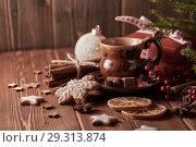Купить «Christmas and New Year composition», фото № 29313874, снято 14 октября 2018 г. (c) Мельников Дмитрий / Фотобанк Лори