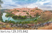 Купить «Panorama of Toledo, Castilla La Mancha, Spain», фото № 29315842, снято 22 февраля 2020 г. (c) Коваленкова Ольга / Фотобанк Лори