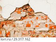 Купить «Stone texture background of weathered red brick stone wall», фото № 29317162, снято 2 мая 2018 г. (c) Зезелина Марина / Фотобанк Лори