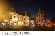 Twilight on Oradea streets (2017 год). Стоковое фото, фотограф Яков Филимонов / Фотобанк Лори