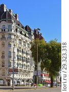 Купить «Hotel Esplanade located on prestigious Strandvagen Street in central Stockholm», фото № 29323318, снято 25 сентября 2018 г. (c) Валерия Попова / Фотобанк Лори