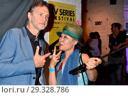 David Morrissey, Moon Suk at the aftershow-party for the premiere... (2018 год). Редакционное фото, фотограф AEDT / WENN.com / age Fotostock / Фотобанк Лори