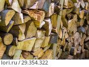 Купить «Stacked timber for burning.», фото № 29354322, снято 8 июня 2018 г. (c) age Fotostock / Фотобанк Лори