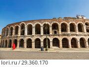 Купить «Arena di Verona - ancient Roman amphitheatre in Verona, Italy», фото № 29360170, снято 21 апреля 2017 г. (c) Наталья Волкова / Фотобанк Лори