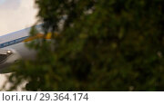 Купить «Jet Airways Boeing 777 approaching», видеоролик № 29364174, снято 25 июля 2017 г. (c) Игорь Жоров / Фотобанк Лори
