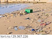 Купить «Pollution of the World Ocean by Plastic», фото № 29367226, снято 23 декабря 2017 г. (c) Kira_Yan / Фотобанк Лори