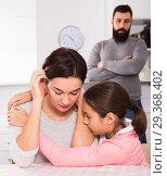 Купить «Father lecturing wife and daughter», фото № 29368402, снято 18 января 2019 г. (c) Яков Филимонов / Фотобанк Лори
