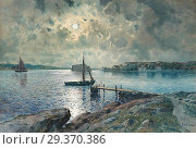 Gardell-Ericson Anna - Vy over Södra Strandverket Marstrand. Редакционное фото, фотограф Artepics / age Fotostock / Фотобанк Лори