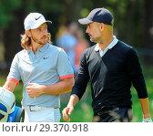 Купить «Sports stars and celebrities join professional golfers at the BMW PGA Championship pro-am at Wentworth Golf Club Featuring: Tommy Fleetwood, Pep Guardiola...», фото № 29370918, снято 23 мая 2018 г. (c) age Fotostock / Фотобанк Лори