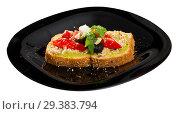 Купить «Image of sandwich with canned tuna and vegetables», фото № 29383794, снято 22 июня 2018 г. (c) Яков Филимонов / Фотобанк Лори